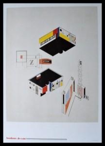 Franz Ehrlich, Architekturentwurf mit Wandgestaltung. Poster