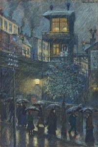Hans Baluschek, Regen