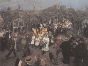 Hans Baluschek, Sommerfest in der Laubenkolonie