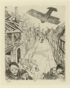 Otto Dix, Lens wird mit Bomben belegt. 1924