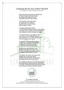 Gedicht Schloss Biesdorf zeigt als Schönheit sich