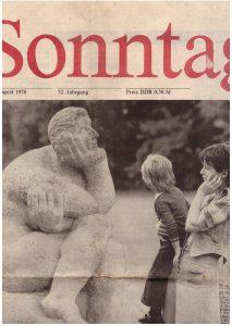 Sinnende_Plastik und Blumen Treptow 27_8_1978