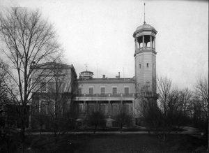 Balkon an der Südfront 1907
