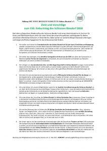 Ziele und Vorschläge 150 Jahre Schloss-8 Punkte